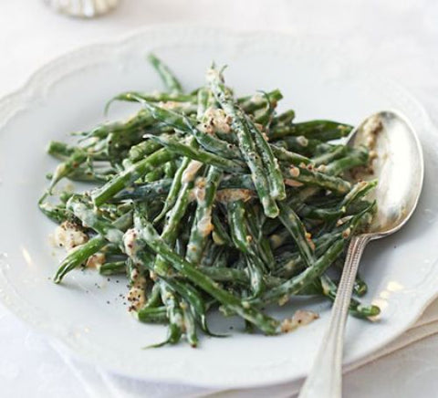 Thanksgiving Green Beans with Mustard Vinaigrette