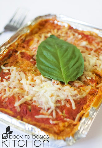 Thanksgiving Cheesy Gluten Free Lasagna with Greens