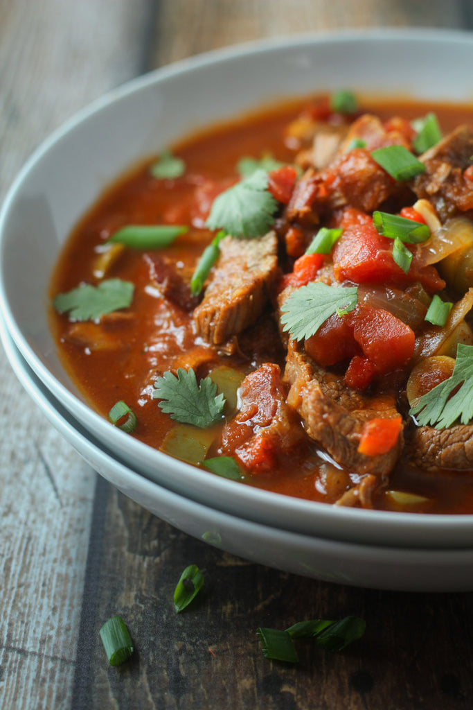 Paleo, Gluten Free, Latin Pork Soup available for pickup site delivery in Longmont, CO.
