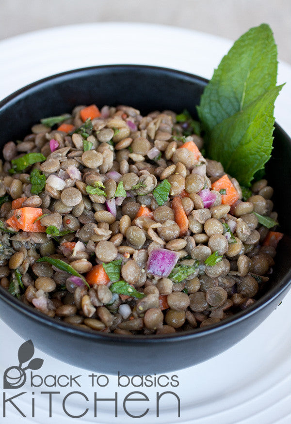 Gluten Free, Vegan, Lentil Salad available for delivery & pickup site in Lafayette, Colorado.