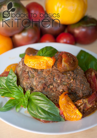 Grassfed Beef & Pork Meatloaf with Tomato Mustard Glaze