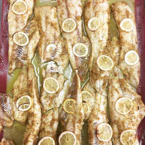 Morroccan Spiced Wild Cod Filets with Fresh Ginger and Lemon