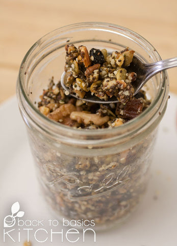 Thanksgiving Nourishing Paleo Blueberry Lemon Granola
