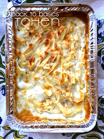 Cheesy Fresh Pasta Bake (Gluten Free)
