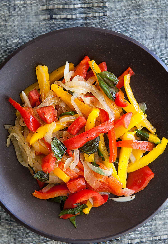 Paleo, Gluten Free Sweet Pepper Skillet with optional chicken available in Longmont, CO