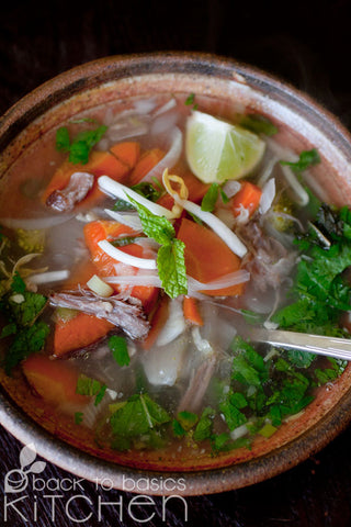 Pho Vietnamese Soup with Beef Bone Broth (Paleo)