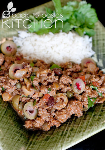 Thanksgiving Juicy Spanish Style Grassfed Beef Picadillo