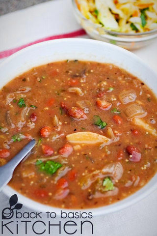 Frijoles Charros (Pinto Bean Soup) with Optional Bacon