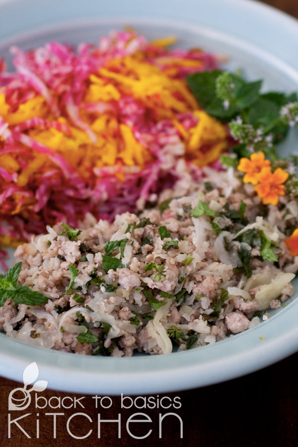 Cauliflower Fried Rice with Local Pork (Paleo)