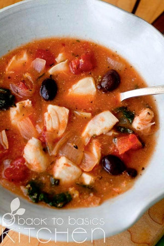 Bright Provencal Fish Stew with Olives