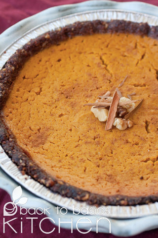 Thanksgiving Silky Pumpkin Pie with Date Nut Crust