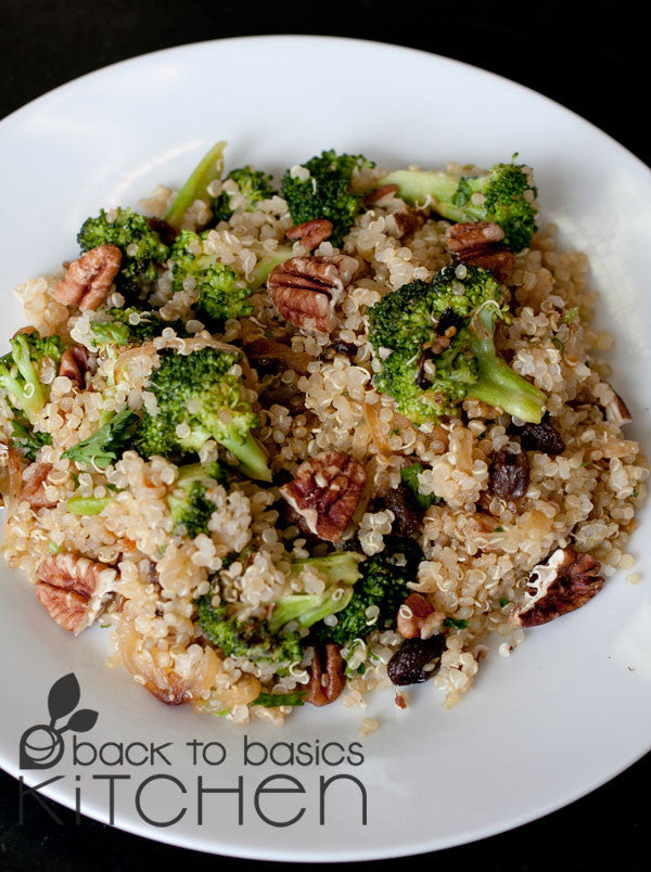 Quinoa Pilaf with Broccoli and Toasted Pecans