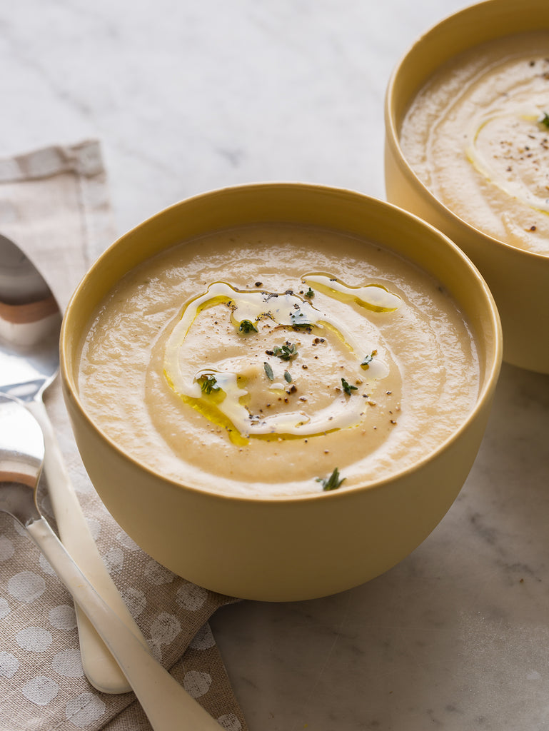 Comforting Organic Parsnip Soup with Coriander and Sage