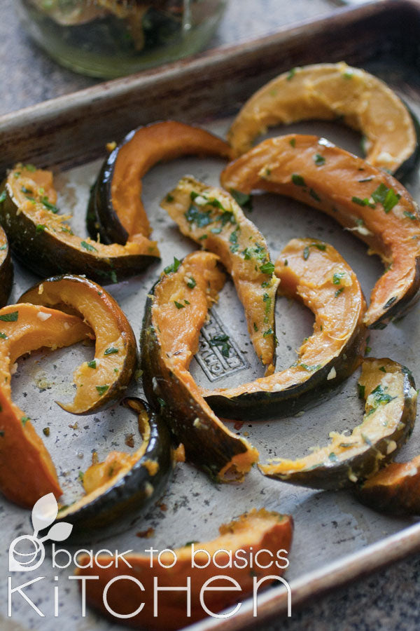 Roasted Winter Squash with Herb Crust & Optional Parmesan