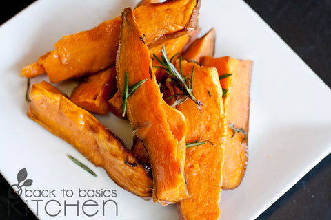 Organic Roasted Sweet Potato Wedges
