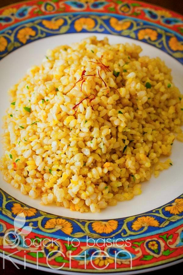 Aromatic Ginger Saffron Rice