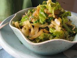 Braised Cabbage with Apple, Onion and Optional Bacon