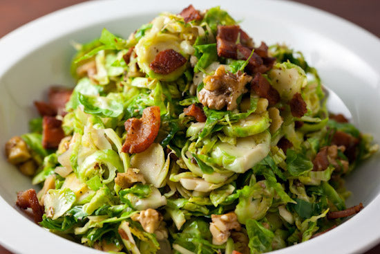 Shredded Brussels Sprouts with Optional Bacon