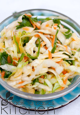 Latin Style Cabbage Slaw with Optional Feta