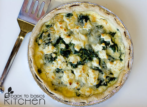Savory Greens and Goat Cheese Pie (Gluten Free)