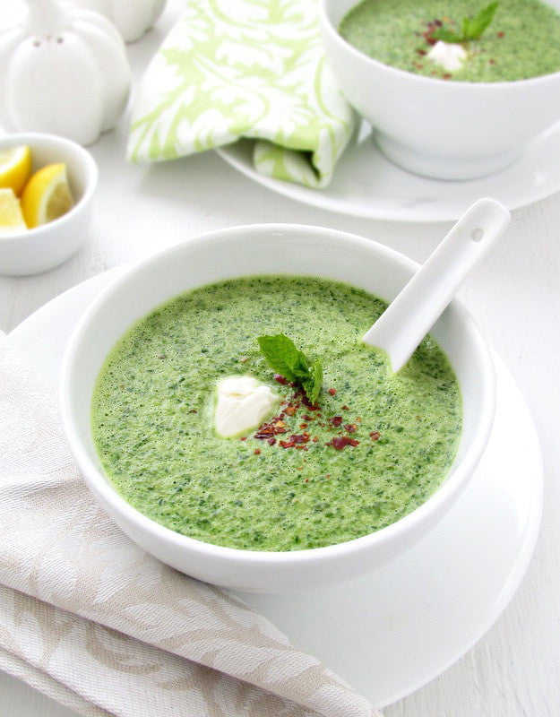 Local Organic Spinach Caribbean Soup with Coconut Milk available for delivery in Louisville, CO.