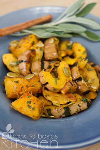 Roasted Winter Squash with Optional Cider Sage Vinaigrette