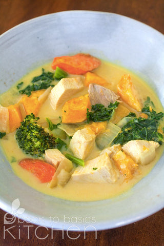 Thai Style Yellow Coconut Vegetable Curry