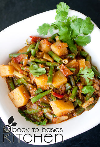 Spicy Potato and Green Bean Vindaloo