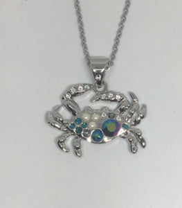 Crab Necklace with Swarovski Elements