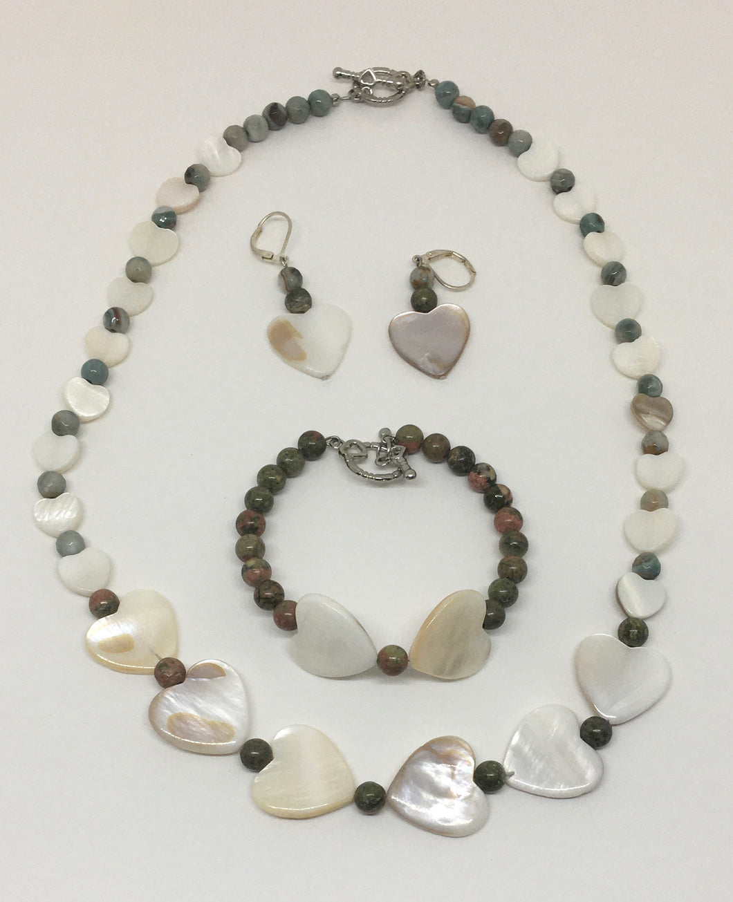 Heart Gemstone Necklace