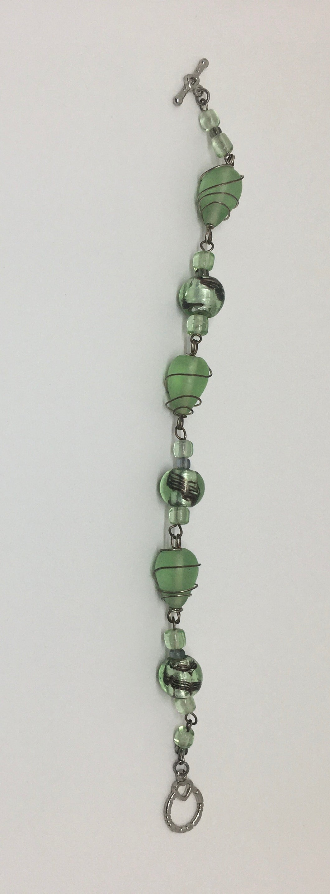 Sale! Green Glass Bead Bracelet