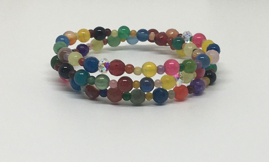 Gemstone Wrap Bracelet