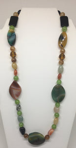 Colorful Glass and Gemstone Necklace