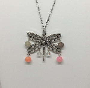 Dragon Fly And Agate Necklace