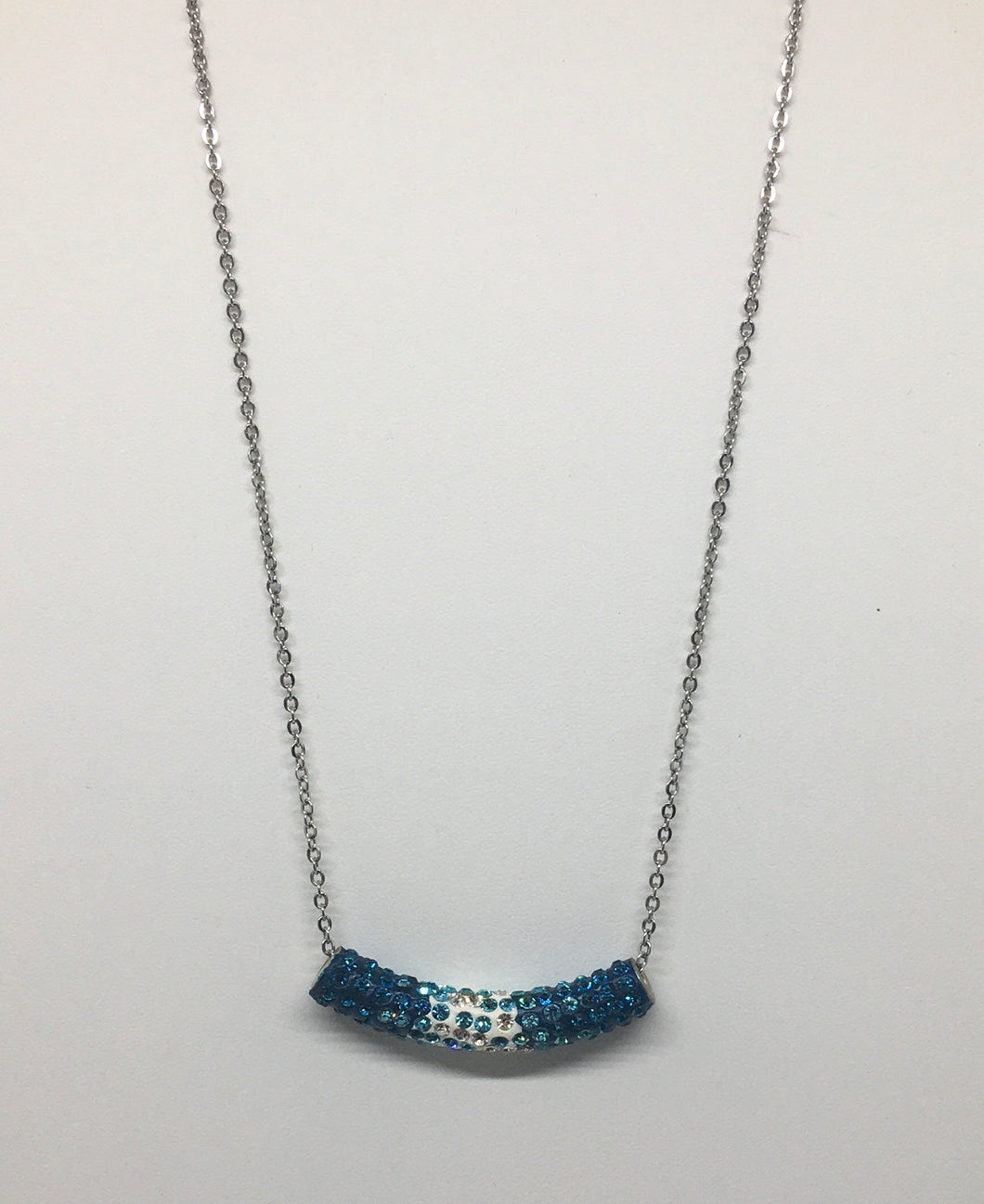 Sale! Blue and White Tube Necklace
