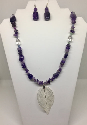 Amethyst And Crystal Set