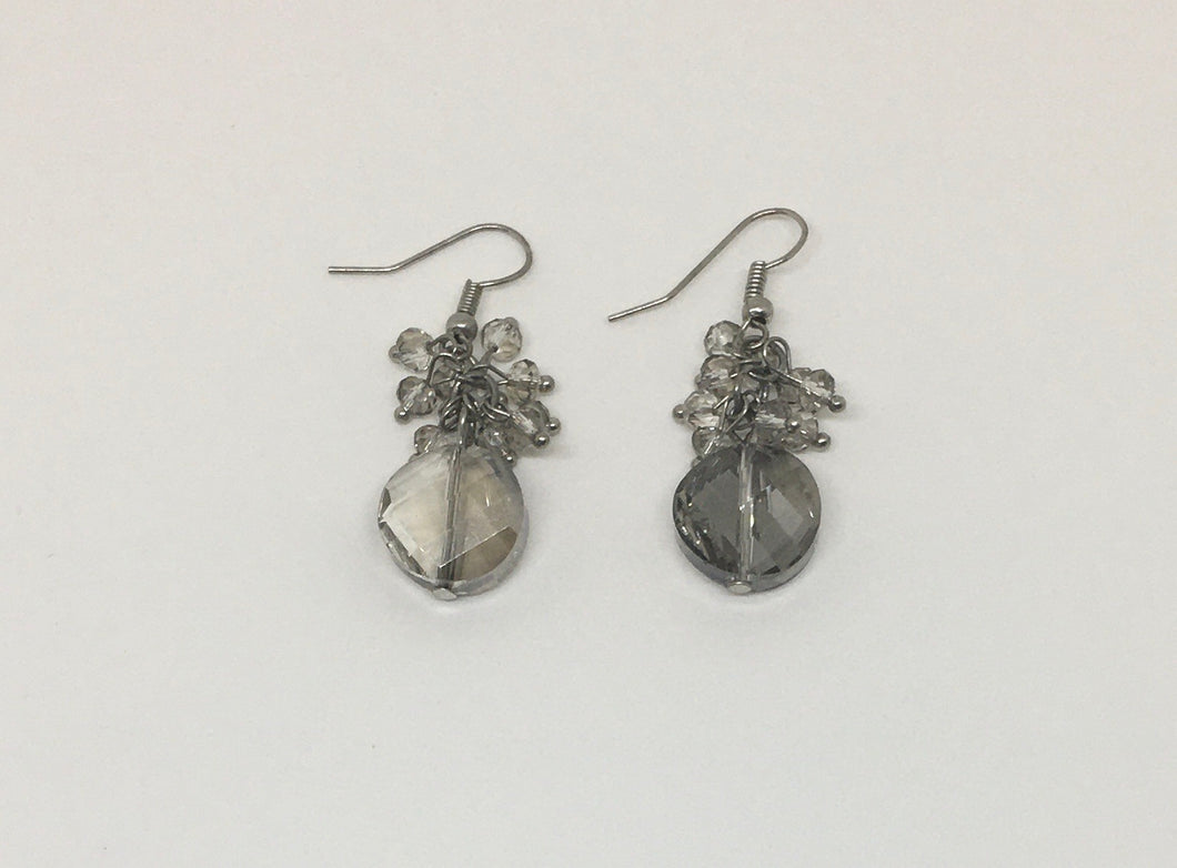 Light Grey Earring Set