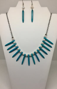 Turquoise And Freshwater Pearl Set