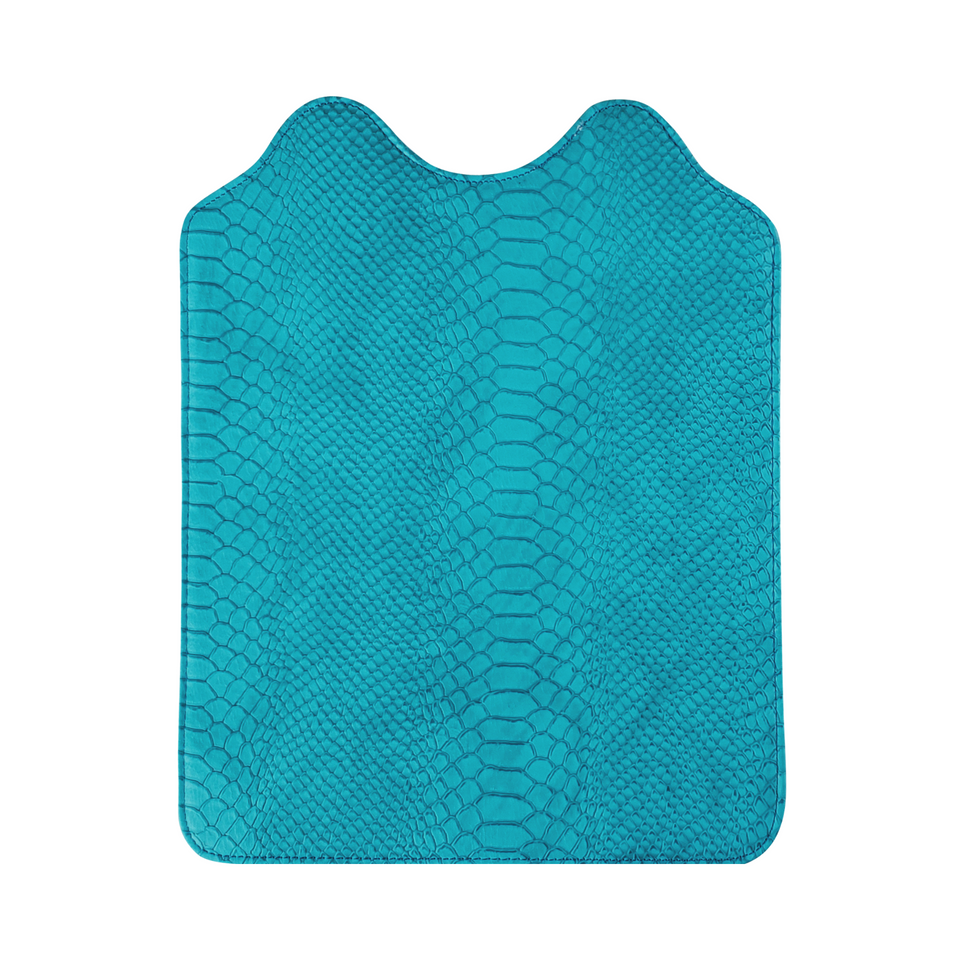 turquoise snakeskin flap for the Signature Evolution Smart Bag
