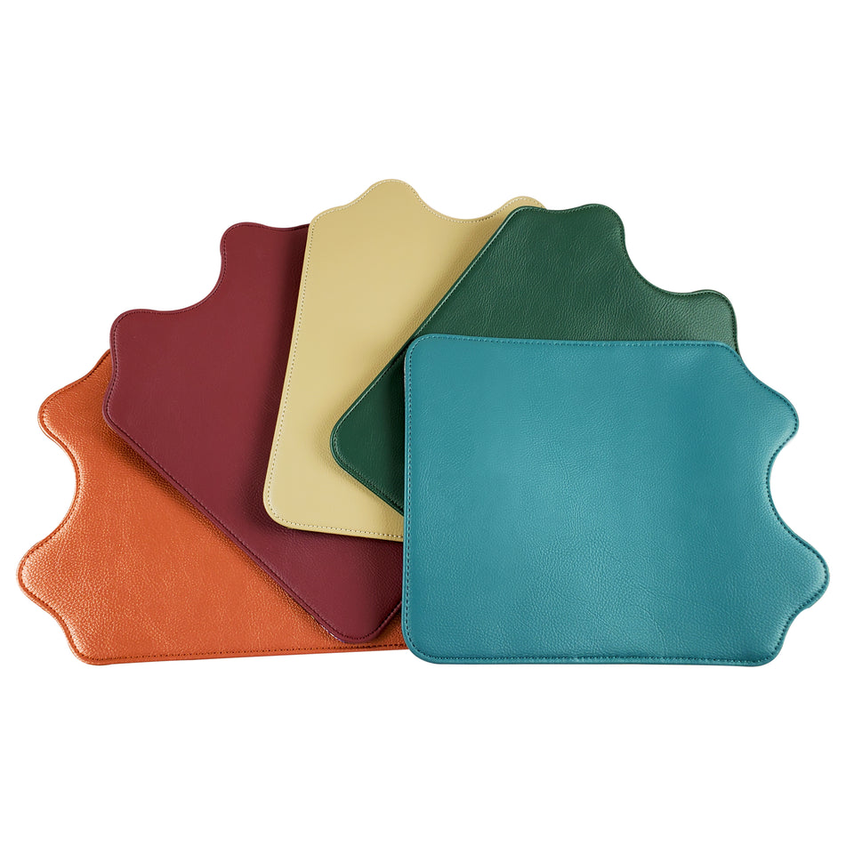 Five solid color flap choices for the Signature Evolution Smart Bag; rose gold, wine, khaki, emerald, dark teal