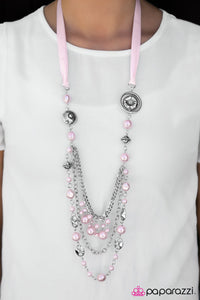 All The Trimmings Blockbuster - Pink Necklace
