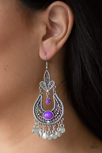 Fiesta Flair Purple Earring