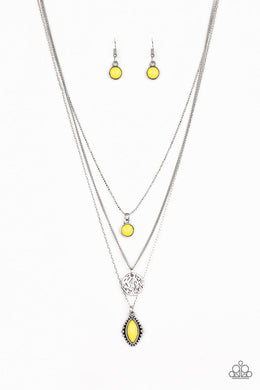 Tide Drifter Yellow Necklace