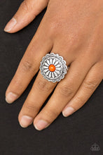 Load image into Gallery viewer, Daringly Daisy Orange Ring