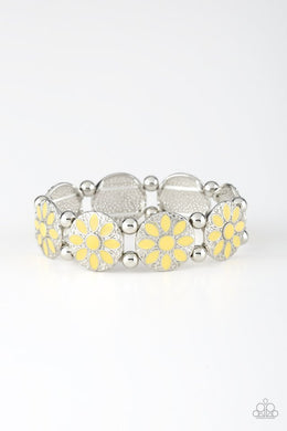 Dancing Dahlias Yellow Bracelet