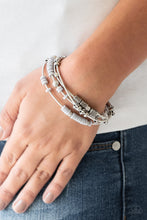 Load image into Gallery viewer, Tribal Spunk Silver Bracelet