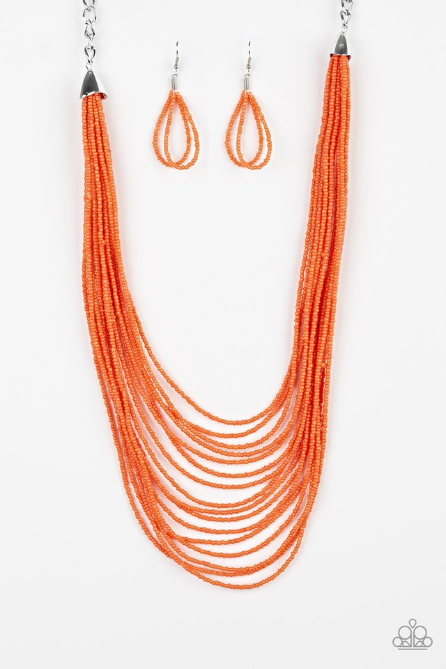 Peacefully Pacific Orange Necklace
