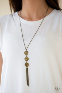 Triple Shimmer Brass Necklace