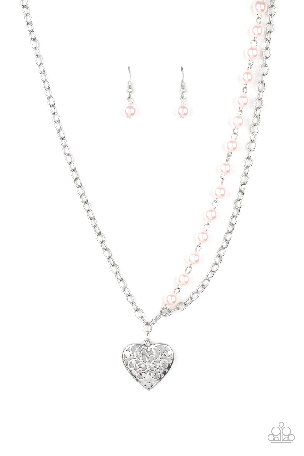 Forever In My Heart Pink Necklace