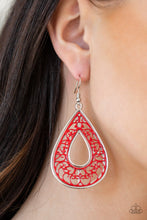 Load image into Gallery viewer, Drop Anchor Red Earring
